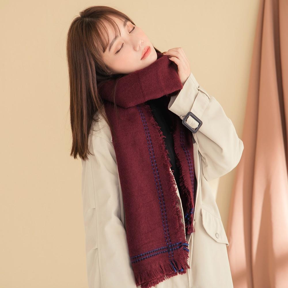 溫暖親膚波西米亞流蘇大披肩圍巾-OB大尺碼