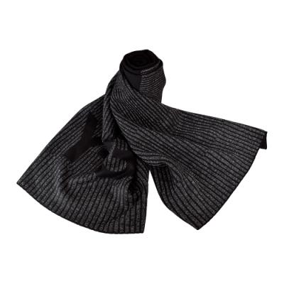 Adidas Y-3 CH1 REFLECTIVE SCARF針織LOGO羅紋設計反光圍巾(黑灰)