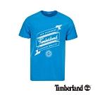 Timberland 男款翠藍圓領短袖T桖|A1W43