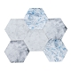 樂嫚妮 六角石紋牆壁貼紙-藍羽毛紋理-20X23cmX10片-防水即撕即貼 product thumbnail 1