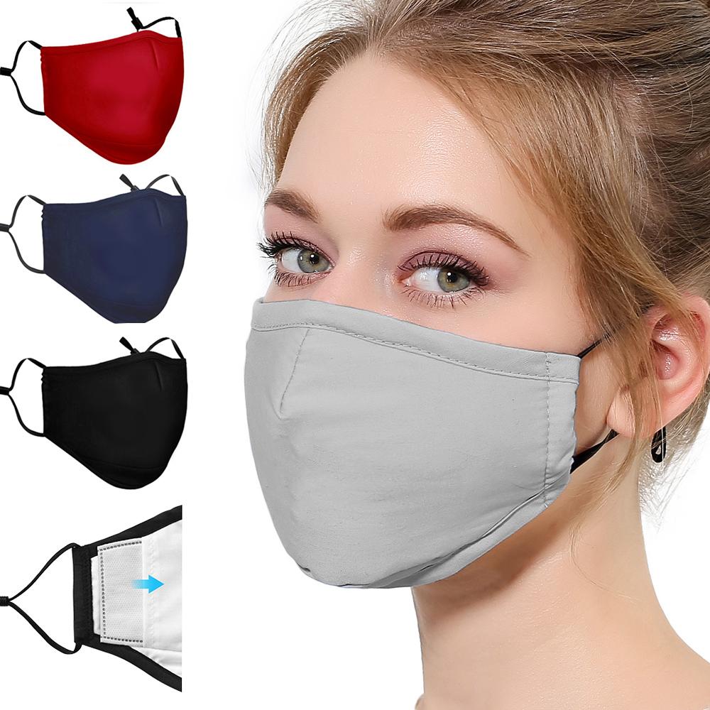 活力揚邑 重覆用PM2.5防塵霾濾芯式立體棉布口罩2入