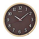 SEIKO 精工 仿木紋滑動式秒針 靜音掛鐘(QXA731A)-卡其色/31cm