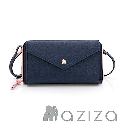 aziza 斜背信封包-藍