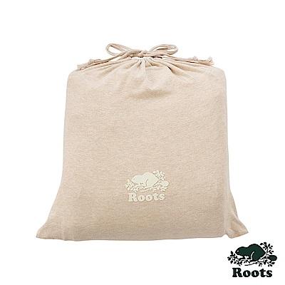 ROOTS有機棉雙人床包-卡其