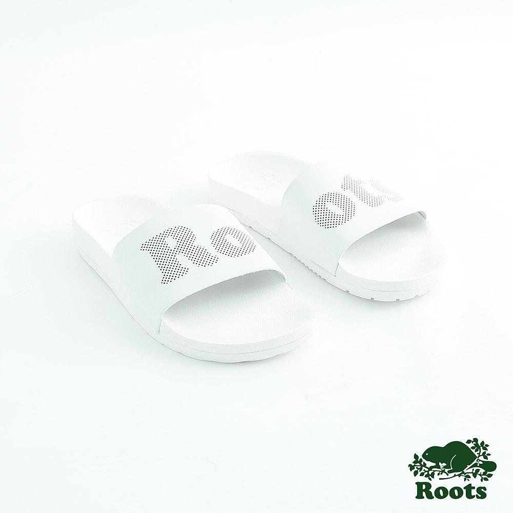 Roots女鞋- 經典皮革輕便鞋-白