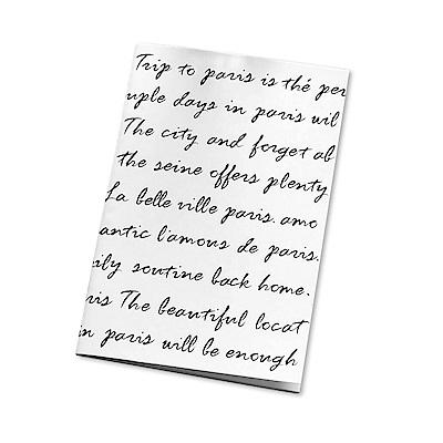 Seeso 法國街頭空白筆記本-寫一封信