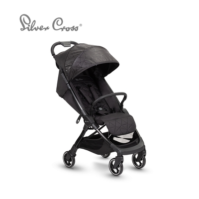Silver Cross Clic 輕量瞬收 可登機 可平躺 嬰兒手推車 0m+(曜石黑)