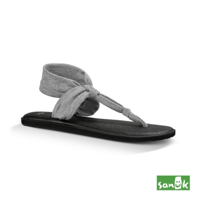 SANUK 輕量設計瑜珈墊人字涼鞋-女款(灰色)