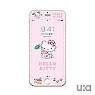 優加 iPhone 7/8 Hello Kitty鋼化玻璃彩繪保護貼-櫻桃凱蒂貓