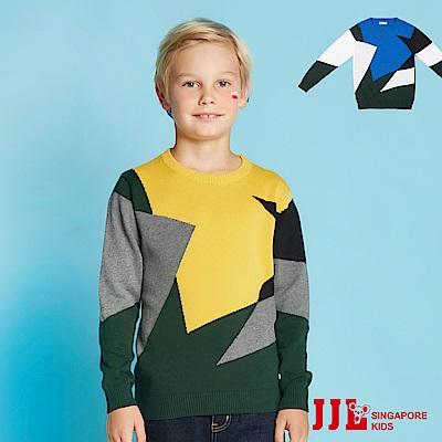 (宅配)JJLKIDS 小藝術家幾何純棉毛衣(2色)