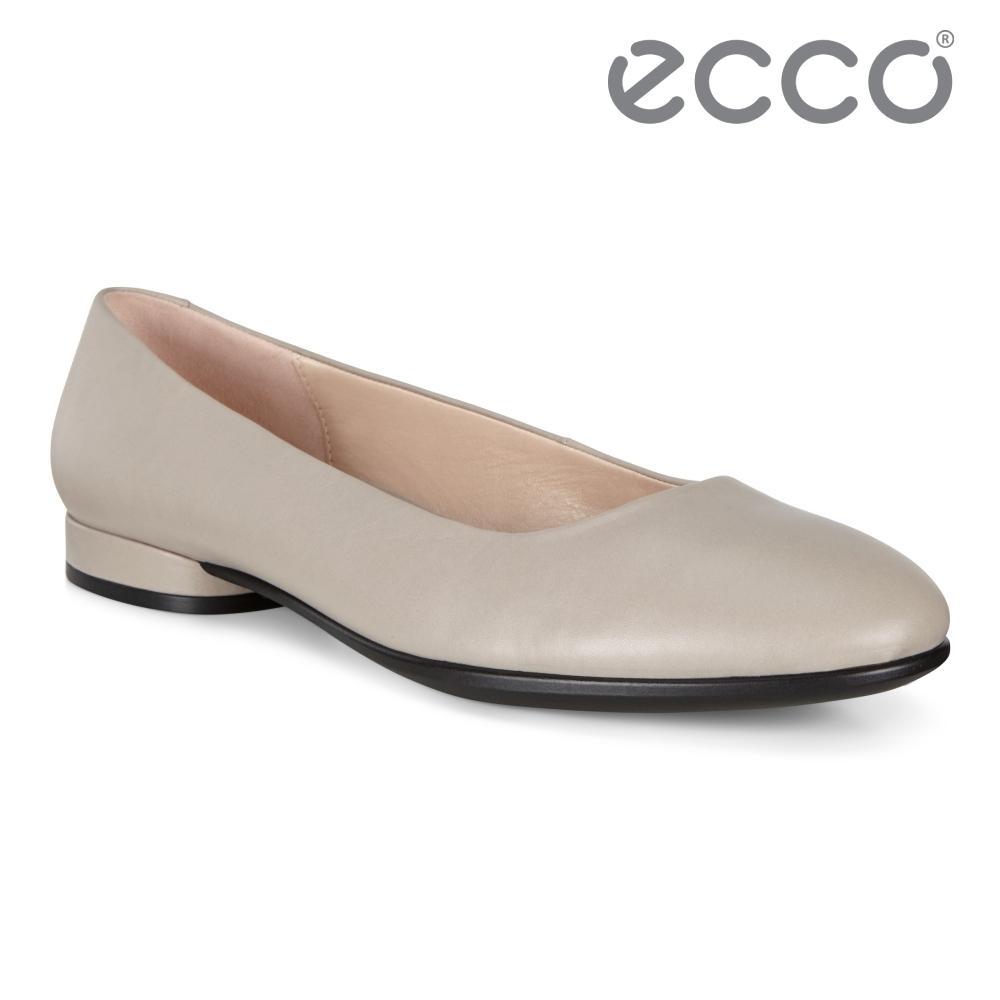 ECCO ANINE 輕.彈.躍 芭蕾舞鞋 女鞋 灰粉色