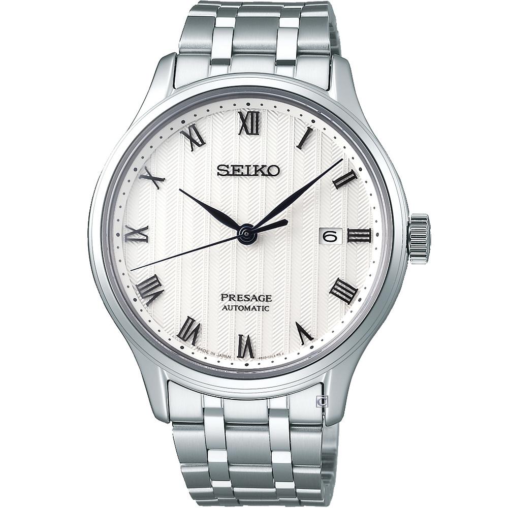 SEIKO Presage 沉穩時尚機械腕錶(4R35-02S0S)白/41mm