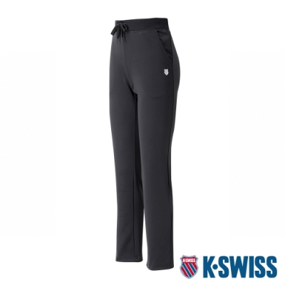 K-SWISS Basic Straight Pants 運動長褲-女-黑