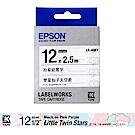 EPSON LK-4QBY Sanrio系列雙星仙子天空款粉藍底黑字標籤帶(寬度12mm)