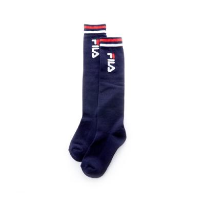FILA 基本款棉質長筒襪-丈青 SCT-5301-NV