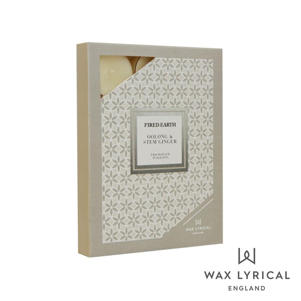 英國 Wax Lyrical 大地系列香氛蠟燭-生薑烏龍 Oolong & Stem Ginger 12入茶燭