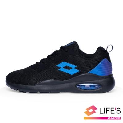 LOTTO 義大利 童 DAY RIDE 輕氣墊跑鞋(黑藍)