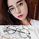 金屬平光眼鏡