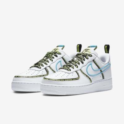 Nike 休閒鞋 Air Force 1 07 PRM 男鞋 基本款 簡約 串標 皮革 質感 穿搭 白 藍 CK7213100