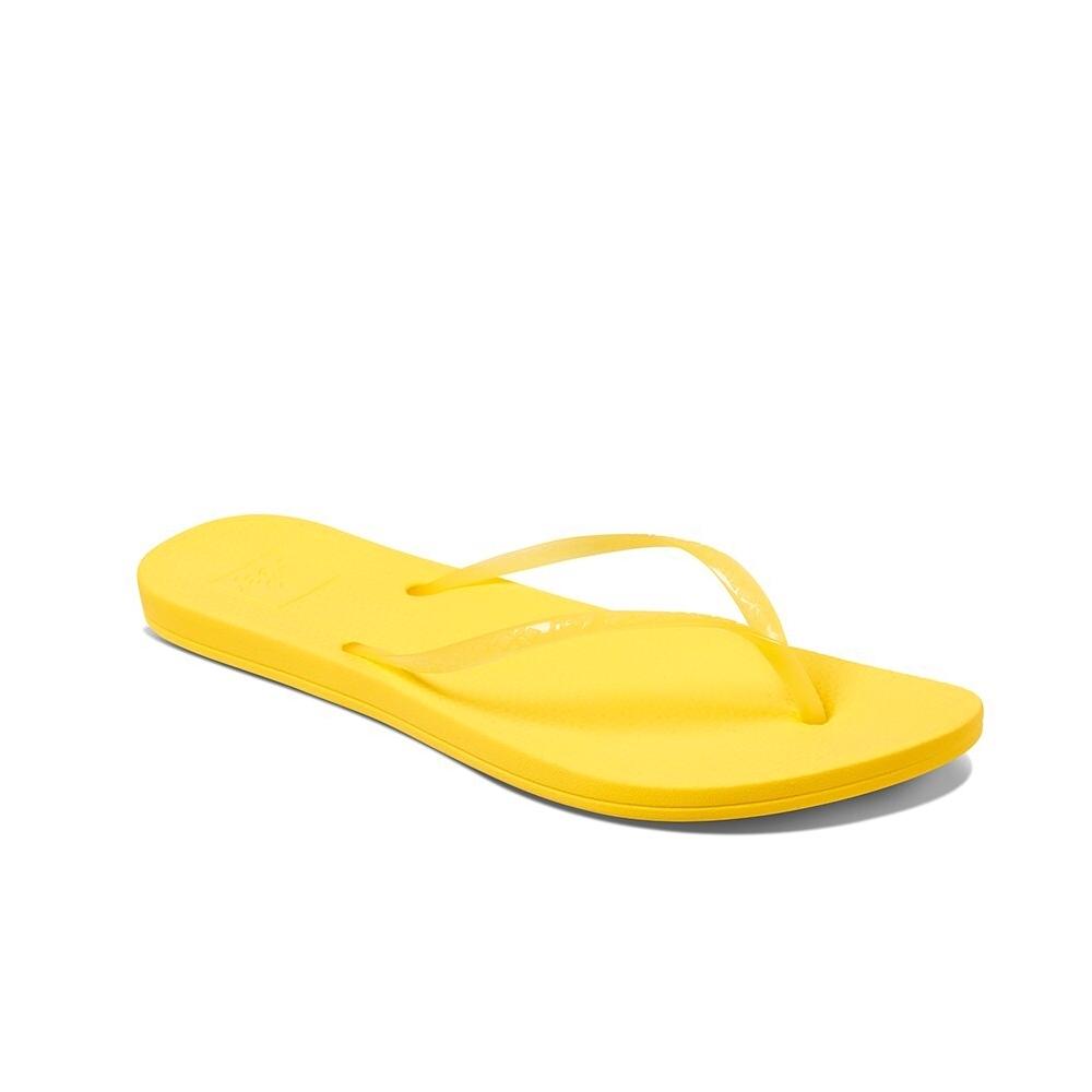 REEF 拖鞋 人體工學 超Q彈橡膠 橡膠夾腳拖 人字拖  黃 女款 RF0A2YFKSSN
