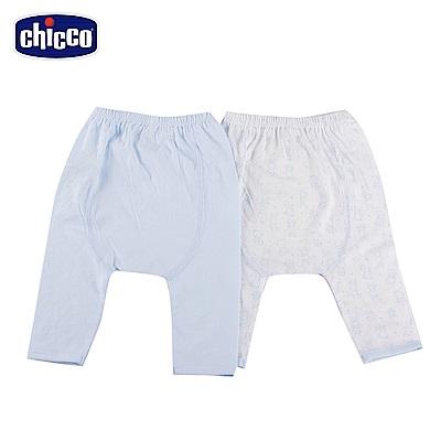 chicco-印花初生褲二入-藍(3-6個月