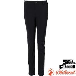 Wildland 荒野 0A72303-106夜空灰 女輕三層合身保暖長褲/防潑水防風