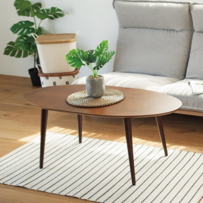 Home Feeling 北歐風簡約橢圓茶几桌/和室桌110x55x44