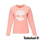 Timberland 女款粉色圓領長袖T恤|B4509