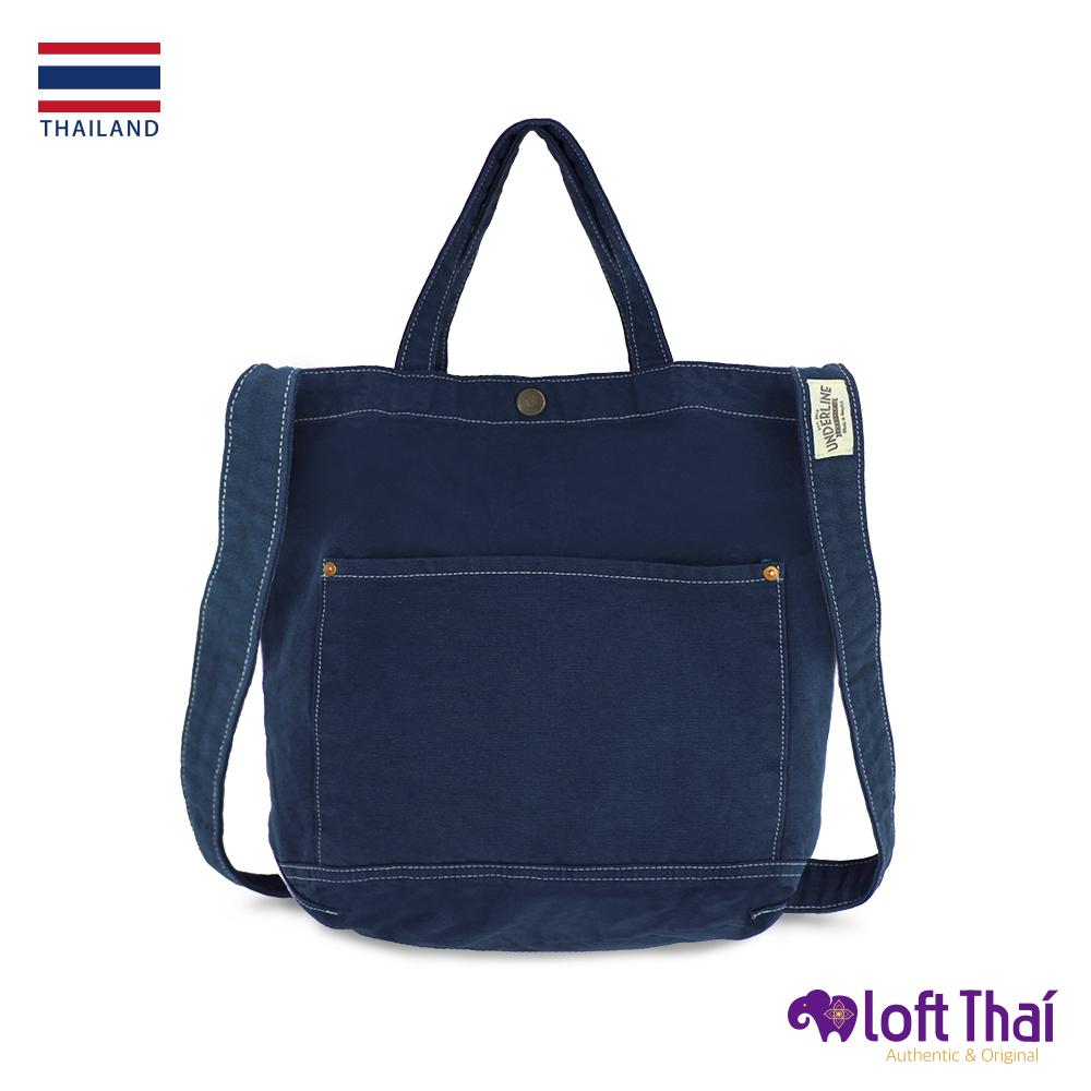 Loft THAI   泰.兩用水洗帆布單肩包   Navy @ Y!購物