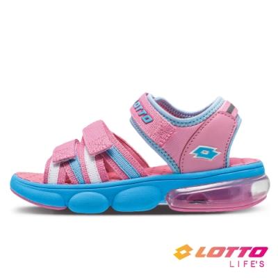 LOTTO 義大利 童鞋 織帶氣墊涼鞋(粉)