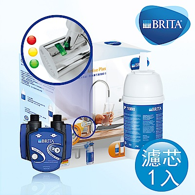 [福利品下殺45折] BRITA LED On Line ACTIVE PLUS 硬水軟化型濾水