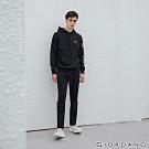 GIORDANO 男裝G-MOTION線條鬆緊腰抽繩運動長褲 - 09 標誌黑