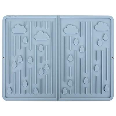 Dailylike 自然系折疊矽膠瀝水墊-03下雨天