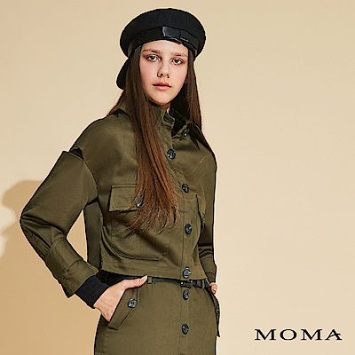 MOMA 袖片剪口短版外套
