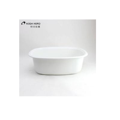 日本[野田琺瑯] 橢圓洗菜盆