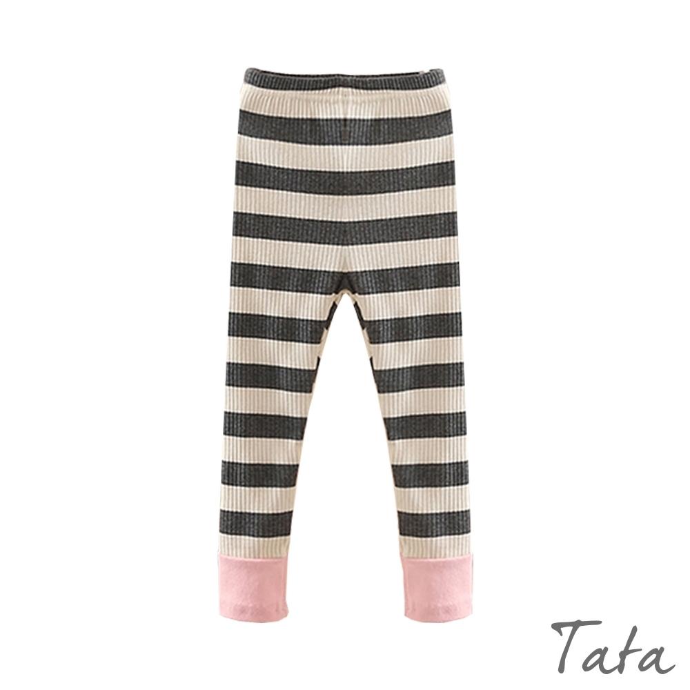童裝 坑條條紋拼接內搭褲 TATA KIDS