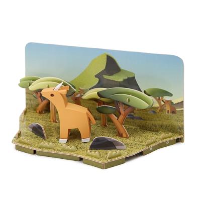 【HALFTOYS 哈福玩具】3D動物樂園:IMPALA 高角羚 STEAM教育玩具