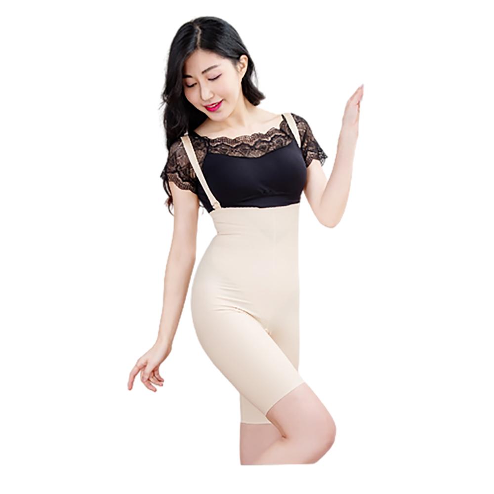 【Marena 瑪芮娜】強效完美塑形系列 腹部加強美體膝上型塑身衣 可拆式肩帶