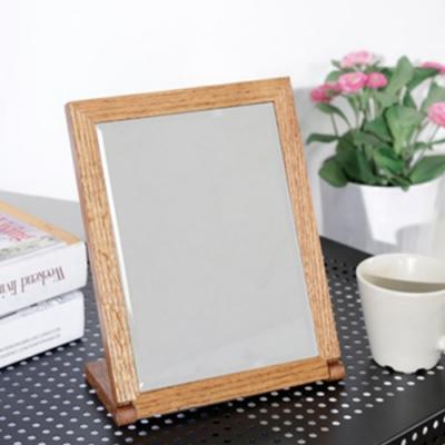 佳美 清雅實木長形桌上鏡(1入/兩款)化妝鏡 方鏡 隨身鏡 桌鏡