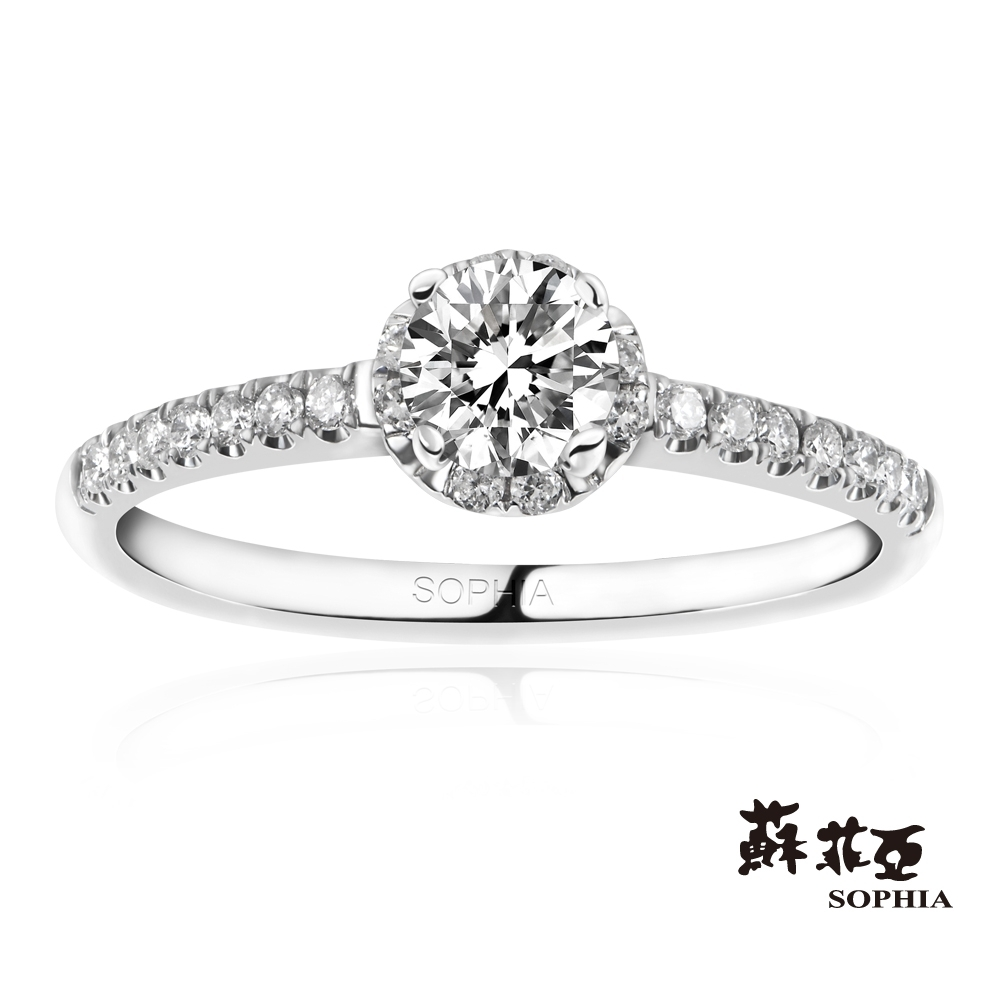 SOPHIA 蘇菲亞珠寶 - 曙光 0.30克拉 18K白金 鑽石戒指