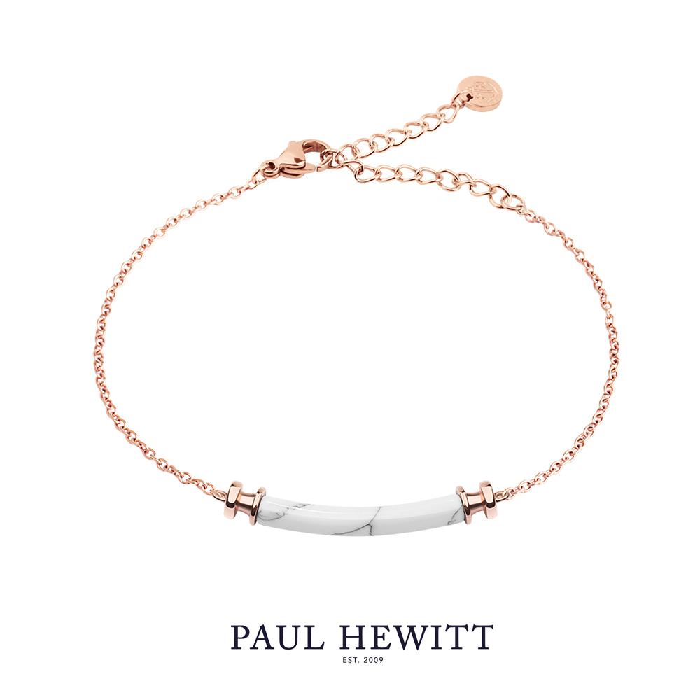 PAUL HEWITT Starboard 大理石手鍊 (白/玫瑰金)