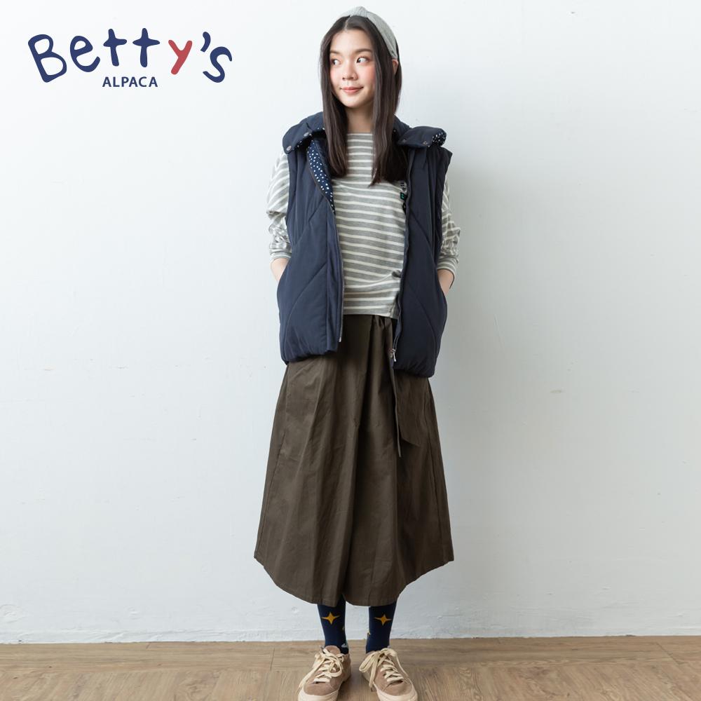 betty's貝蒂思 斜口袋微刺繡九分寬褲(深綠) @ Y!購物