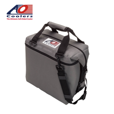 【AO Coolers】酷冷軟式輕量保冷托特包-12罐型 -經典帆布CANVAS系列 炭灰