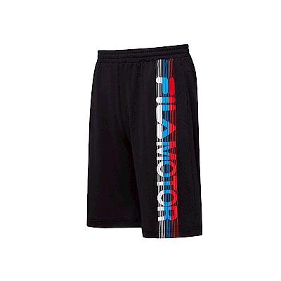 FILA 男款吸濕排汗短褲-黑色 1SHT-1476-BK