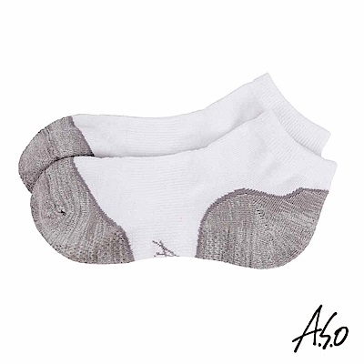 A.S.O 遠紅外線系列 除臭短襪-白
