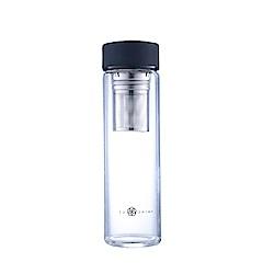 FUSHIMA富島 禪風單層厚底玻璃隨手瓶550ML(2色可選) 附濾網