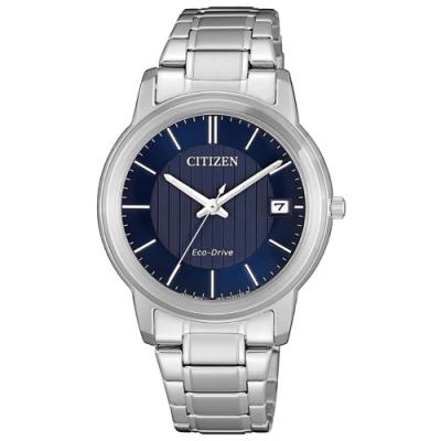 CITIZEN星辰 光動能都市簡約時尚女錶(FE6011-81L)-銀x藍/33mm