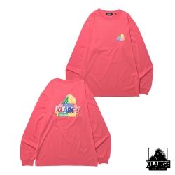XLARGE L/S PAISLEY SLANTED OG TEE長袖T恤-粉