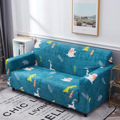 【歐卓拉】熊熊森林彈性沙發套-3人座