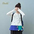 【Dailo】MIT台灣製頑皮熊拼接口袋-上衣(二色)